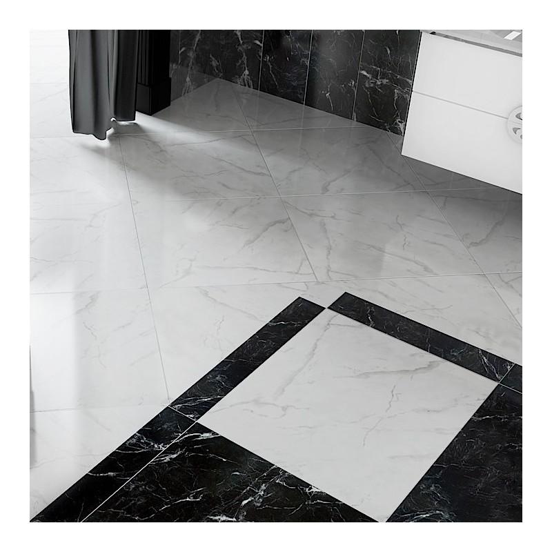 carrelage sol poli noir classic marquina negro al khiam fourni plus. Black Bedroom Furniture Sets. Home Design Ideas